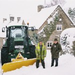 Snow plough on back lane - Jan 2010